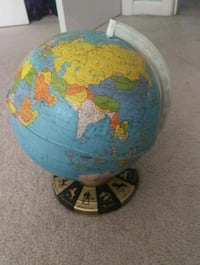 blue and yellow desk globe Wilmington, 01887