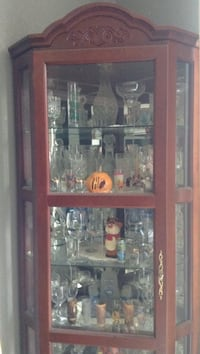 brown wooden framed glass display cabinet Winters, 95694
