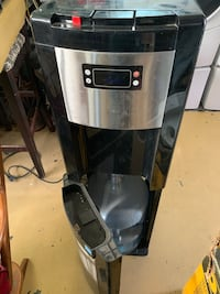 Stainless steel and black HOT and COLD WATER DISPENSERY