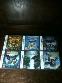 6 Nintendo DS games  Surrey, V3T 3A4
