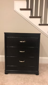 One of pair! Matching 3 drawer night stand with polished silver handles. Vienna, 22180