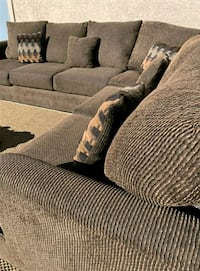Dark Brown Sectional, Delivery Available