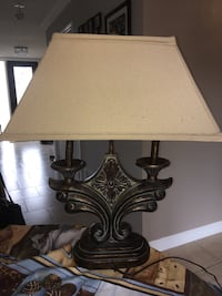 Bronze Lamp with Beige Shade Markham, L3S 4A8