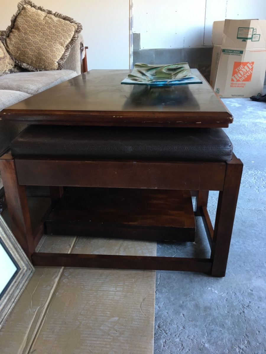 Letgo Large Coffee Table With Two Hidden L In Eagan Mn