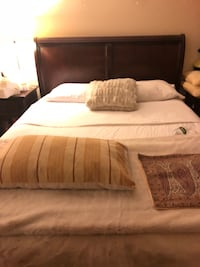 Pottery Barn-like sleigh bed queen size
