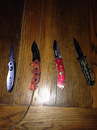 War tech knives all spring assisted and all work. $8 each Sharpsburg, 21782