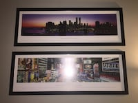 two black wooden framed wall art decors Toronto, M2J