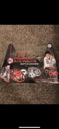 Red and gray air wars battle drones in box Greensboro, 27455
