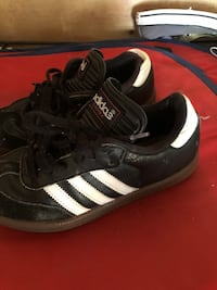 pair of black-and-white Adidas Superstar Buffalo Grove, 60089