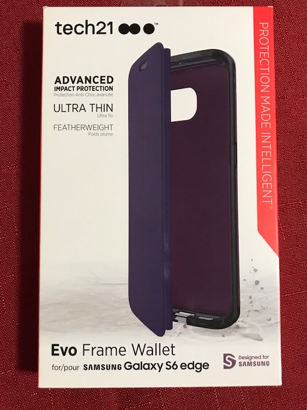 best cheap 922c6 5eb47 Tech21 evo frame wallet Samsung Galaxy S6 edge box