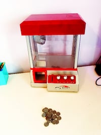red and silver gumball dispenser LOSANGELES