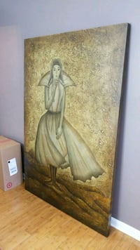 brown wooden framed painting of woman Silver Spring, 20904