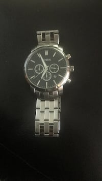 round silver chronograph watch with link bracelet Baton Rouge, 70806