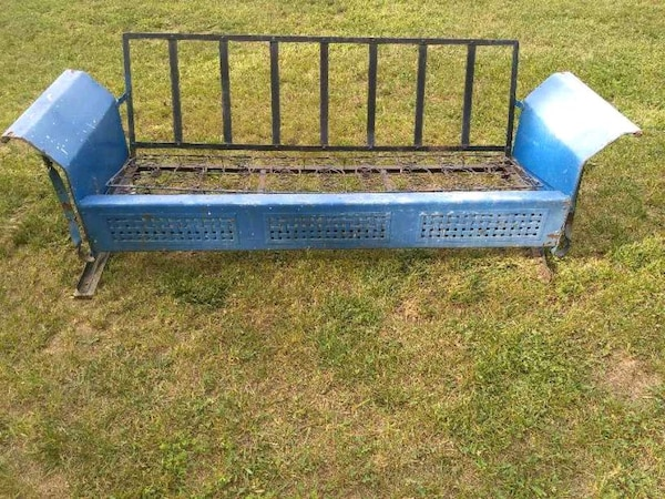 Awe Inspiring Vintage Metal Porch Glider Caraccident5 Cool Chair Designs And Ideas Caraccident5Info