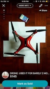 red and black quadcopter drone Mississauga, L5M 7L9