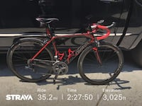 red and black road bike 1922 mi