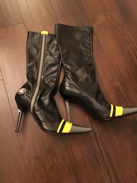 Women's Casadei SZ 8  Black Leather Boots Toronto, M9B