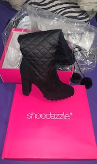 Deena quilted heeled boot