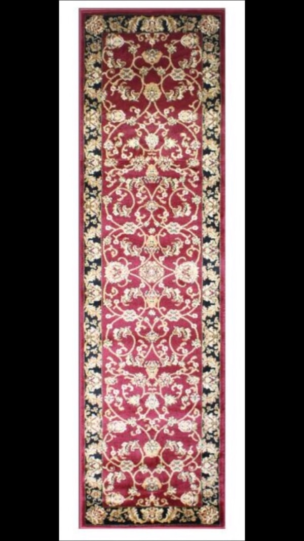 Brand new carpet runner size 3x10 nice red hallway entryway rug runners