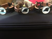 Panthers Leather Bracelets for men or women