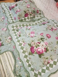 white, pink, and green floral quilt Coquitlam, V3C 2H4