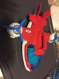 Toddler's red and blue plastic toy 32 km