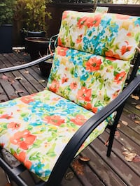 2 CANVAS Patio Chair Cushions - Brand New - Reversible Burnaby, V5A