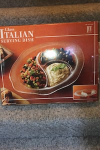 IVV glass italian dish 3 compartments- new Silver Spring, 20905