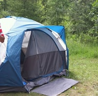 blue, white, and black dome tent for 5 Brampton, L6R