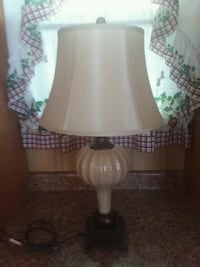 """white and brown table lamp 30"""" tall Baltimore, 21205"""