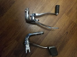 two stainless steel exhaust pipes
