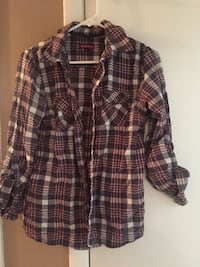 Brand new pink and grey flannel shirt that is brand name Merona