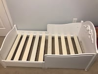 Toddler's white wooden beds