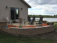 Concrete and retaining wall patio St. Cloud
