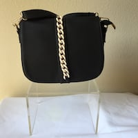 Black and silver quilted sling bag Long Beach, 90810