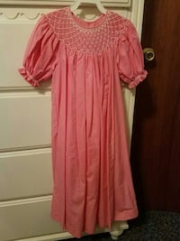 girl's pink short sleeve dress