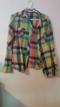 green, red, and black plaid sport shirt Toronto, M1C 3Y4