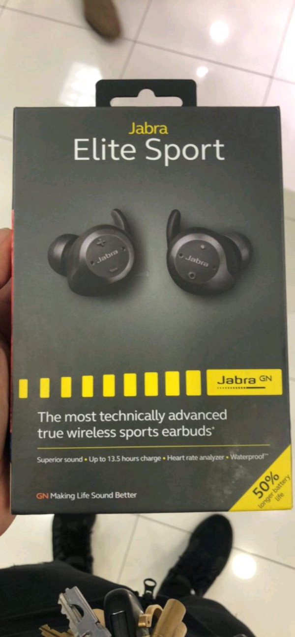 d52e0d0ab6f Used Jabra Elite Sport (Most Advanced Earbuds on Market for sale in ...