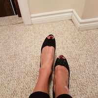 Black high heels, peep toe. Size 8. narrow Oakville, L6H 4P3