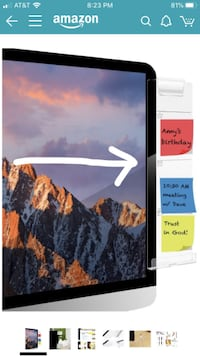 Post-It Notes Memo Board Phone Holder for Computer