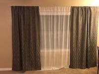 """84"""" Brown Blackout Curtain Panels x 2 (sheer panel not included) Tampa, 33616"""