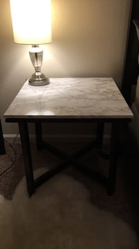 Faux Marble End Table Tampa, 33607