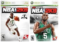 Xbox 360 Basketball Video Games (NBA 2K8 & NBA 2K9) Toronto, M6N 3V9