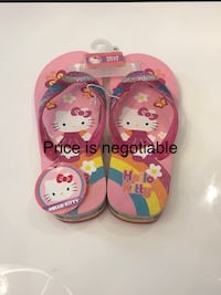 Brand new hello kitty flip flops
