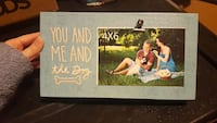 You & Me & the Dog box sign