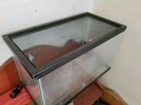 black framed clear glass fish tank Bakersfield, 93308
