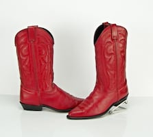 Vittorio Ricci Red Western Size 9.5 M Cowboy Cowgirl Leather Boots.