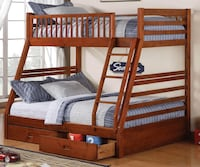 brown wooden bunk bed frame Coquitlam, V3B