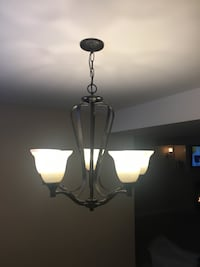 5 light black chandelier