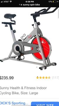 gray and red stationary bike 56 km